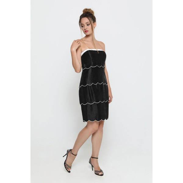 Φόρεμα μαύρο λευκό κοντό Φορέματα