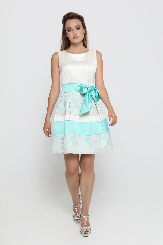 e02e25bbd6a4 -13% Φόρεμα φυστική με λουλούδια κοντό Φορέματα