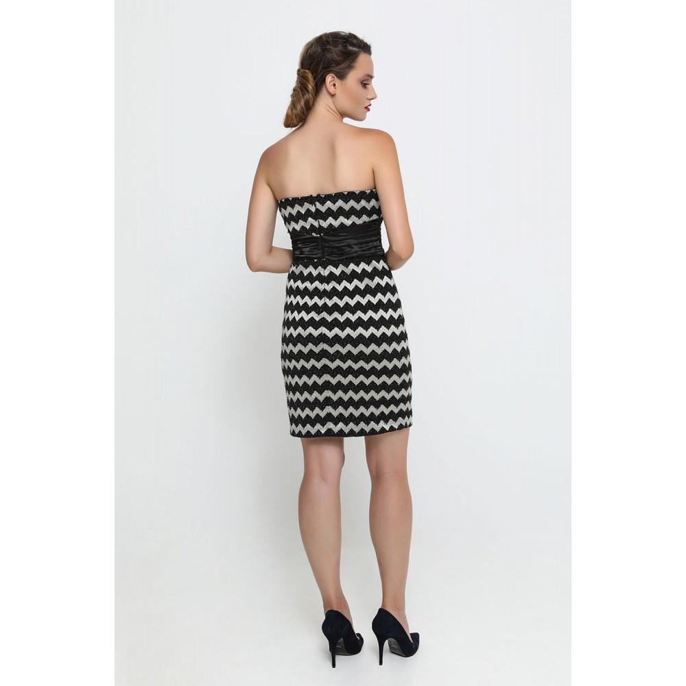 ... Φόρεμα μαύρο-χρυσό κοντό Φορέματα d1a8c5d49e5