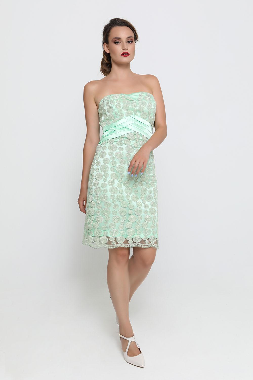 8ce15a73540 Φόρεμα πράσινο δαντέλα κοντό