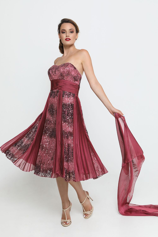 Φόρεμα μωβ-ασημί Φορέματα