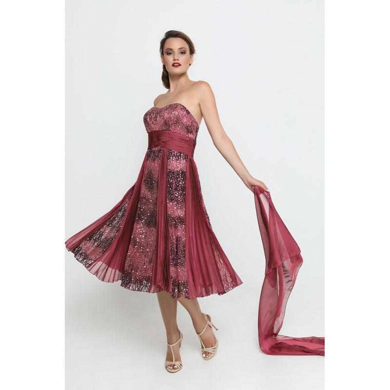 Φόρεμα μωβ-ασημί