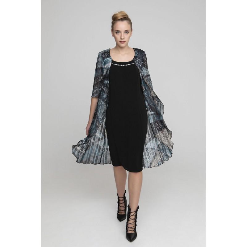 Φόρεμα μαύρο με πανό