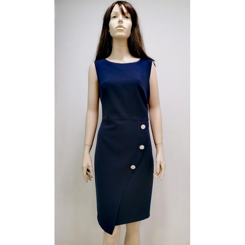 Φόρεμα μπλε με κουμπιά