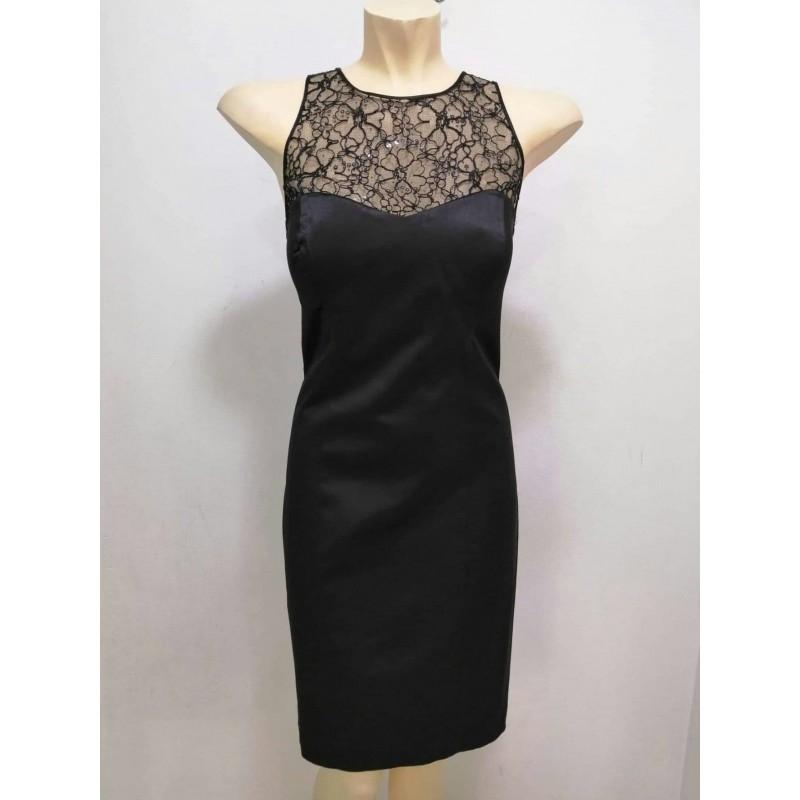 Φόρεμα μαύρο με δαντέλα κέντημα