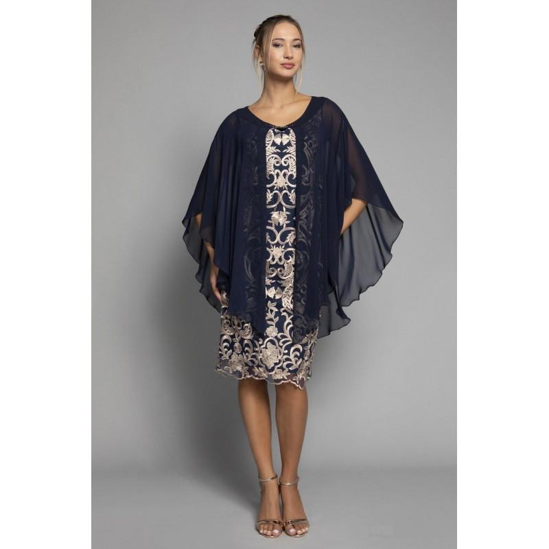 Φόρεμα δαντέλα με ενσωματωμένο πανό